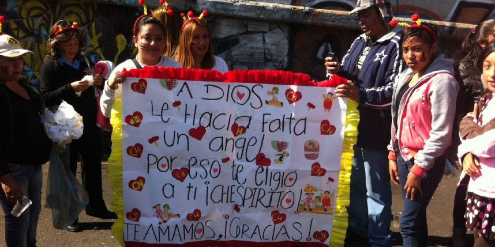 Cientos de mensajes de cariño. Foto:Nicolás Corte