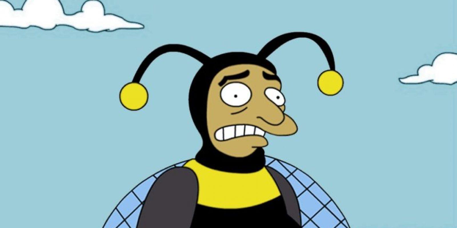 """""""El Hombre Abejorro"""" o """"Bumblebee Man"""" es el personaje que crearon en """"Los Simpsons"""" inspirado en """"Chespirito"""" Foto:Fox"""
