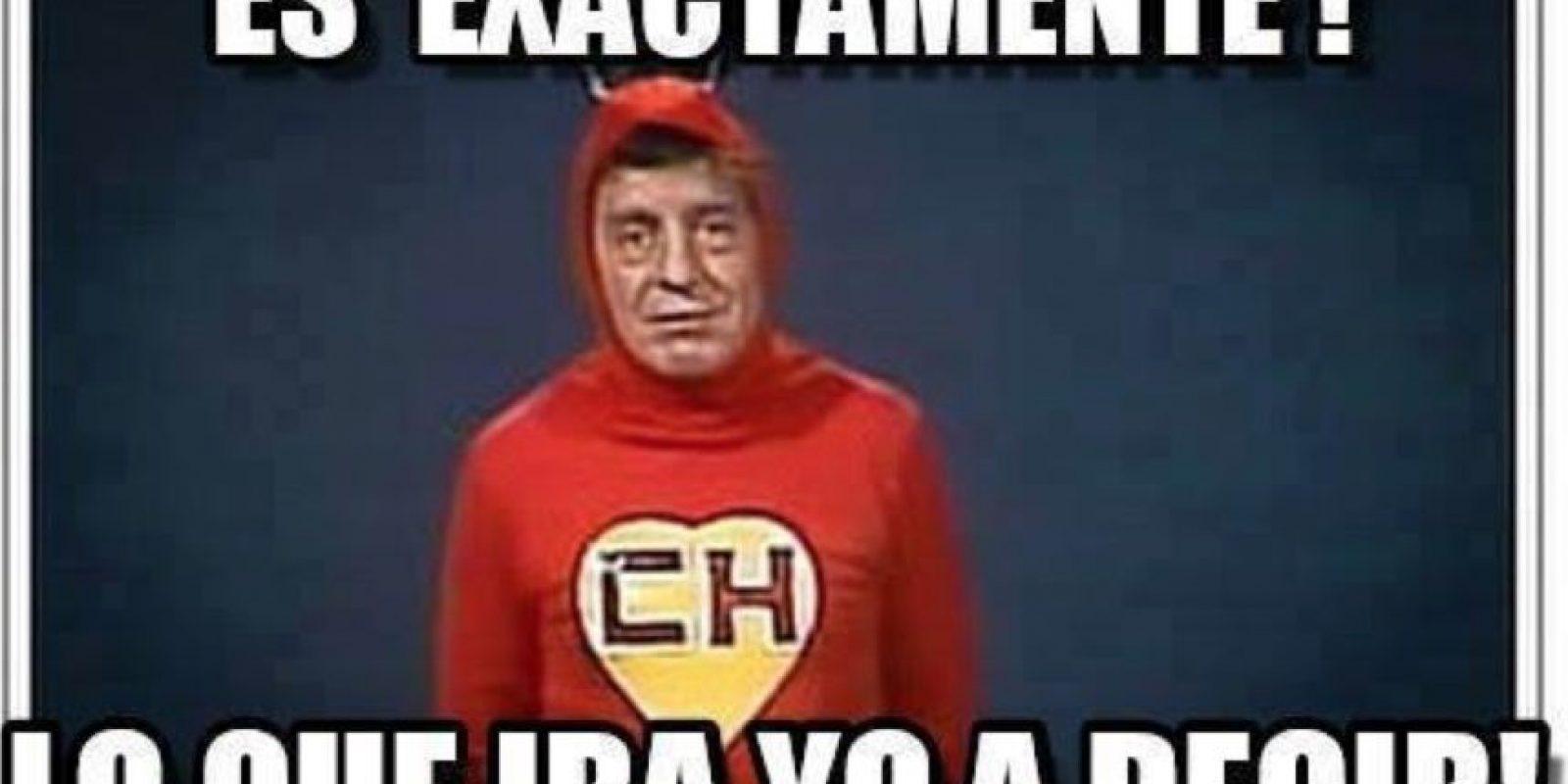 """Tal y como lo hacía """"Chespirito"""" en sus programas Foto:Roberto Gómez Bolaños/Facebook"""