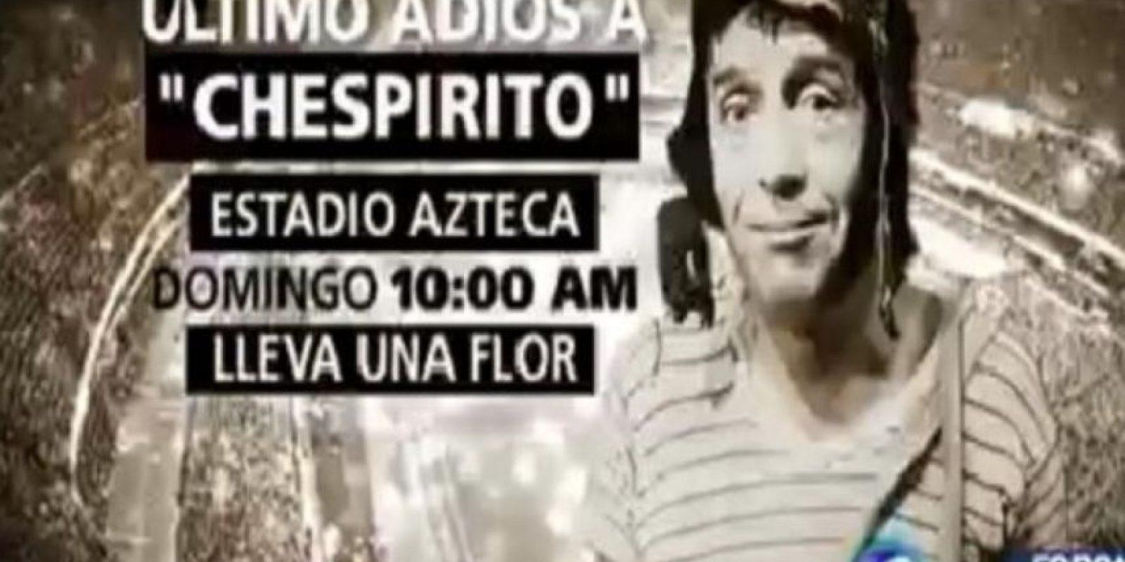 """Ya comenzaron los homenajes para """"Chespirito"""". Esta noche se le hará uno en la """"Plaza de las Estrellas"""" Foto:Twitter/ForoTV"""
