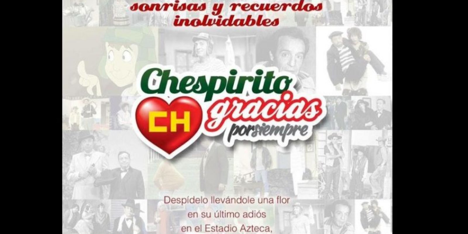 Televisa está convocando a la gente para un homenaje el 30 de noviembre en el Estadio Azteca Foto:Twitter/TelevisaTvMx