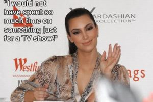 """""""No pasaría mucho tiempo de mi vida en algo como un show de televisión"""" Kim Kardashian Foto:Guff"""