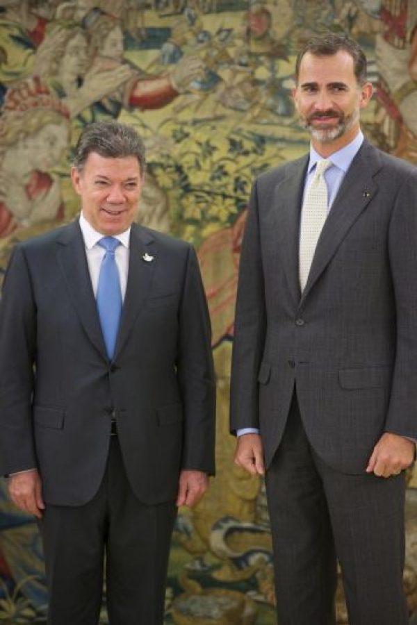 El político colombiano asumió la presidencia en 2010. Acaba de ser reelecto para un periodo más, hasta 2018. Foto:Getty Images