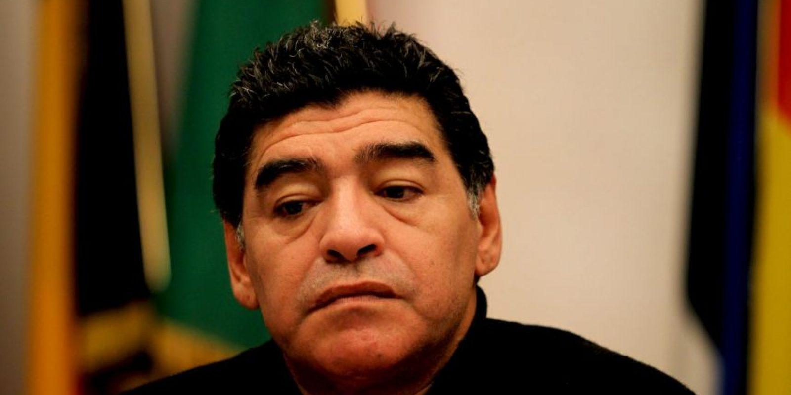 5. La recaída de Maradona. El exastro se dejó ver en estado de ebriedad y golpeó a su exmujer Rocío Oliva, entre otros problemas Foto:Getty