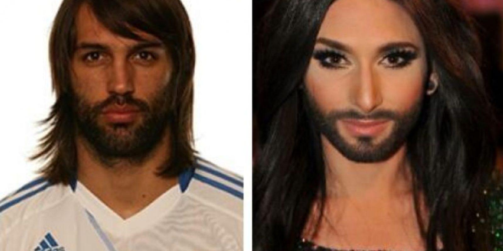 El griego Samaras es similar a Conchita Wurst Foto:Getty