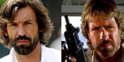 Andrea Pirlo y Chuck Norris bien podrían ser hermanos gemelos Foto:Twitter