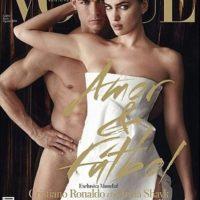 Irina Shayk y Cristiano Ronaldo posaron prácticamente sin ropa para la edición española de Vogue en mayo de 2014. Foto:VOGUE España / instagram.com/irinashayk