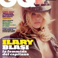 Ilary Blasi para la portada de mayo de 2010 de GQ. Foto:GQ