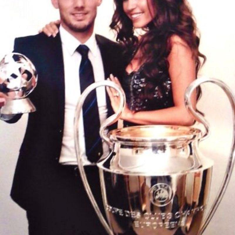 Yolanthe Cabau y Wesley Sneijder se casaron en 2010. Foto:Yolanthe Cabau