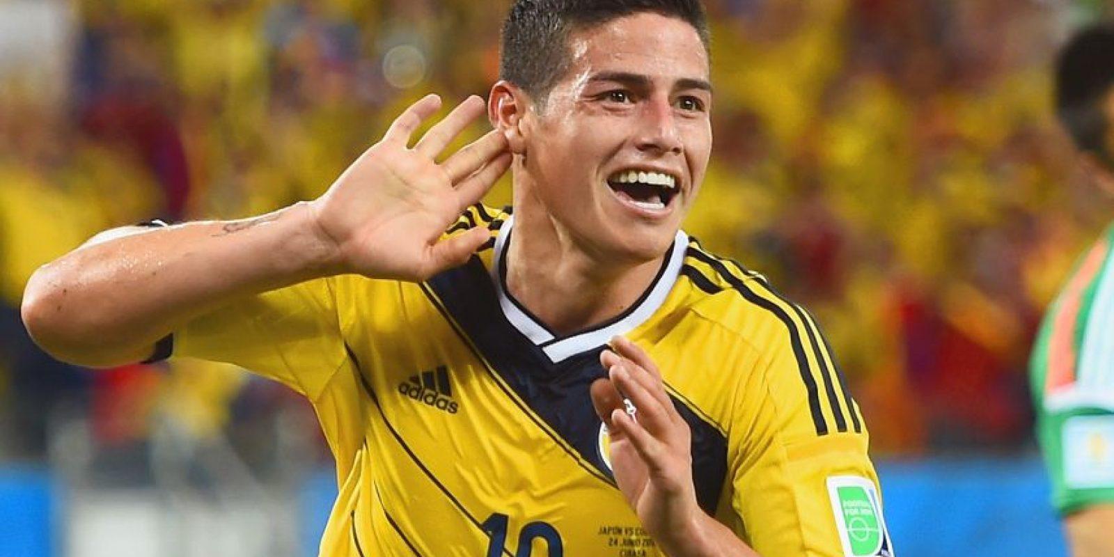 James fue elegido por su gol contra Uruguay en el Mundial. Foto:AFP