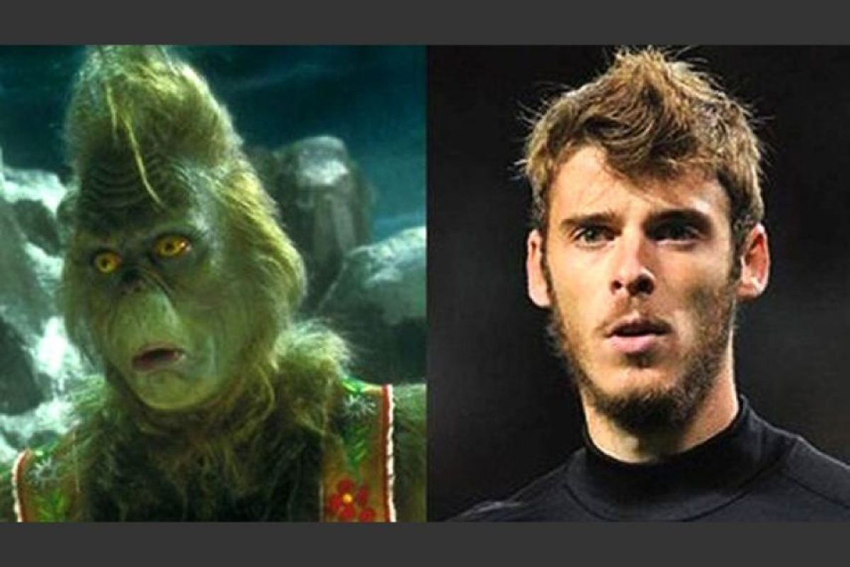 El Grinch es muy parecido al portero español David De Gea Foto:Twitter
