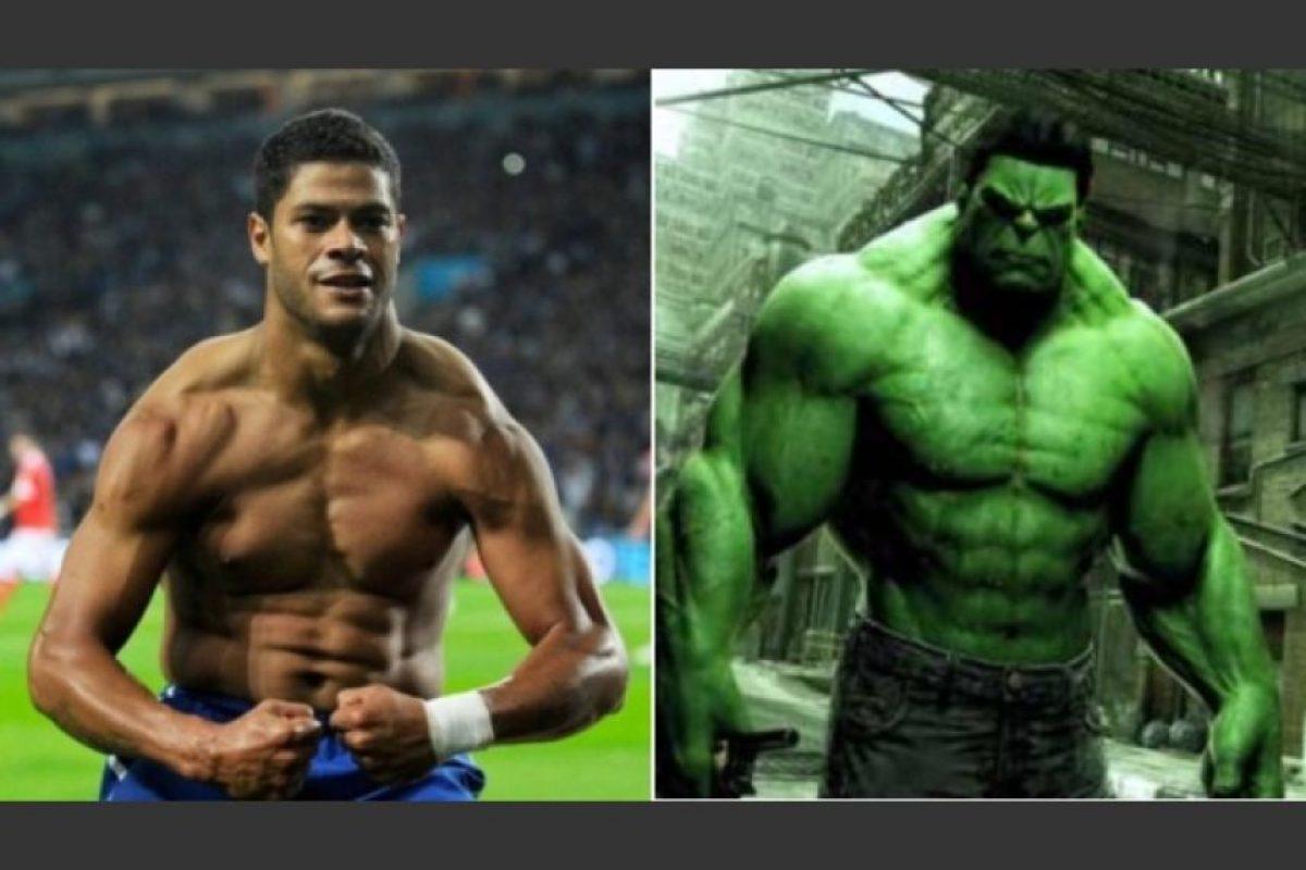 Hulk y su personaje de Marvel Foto:Twitter