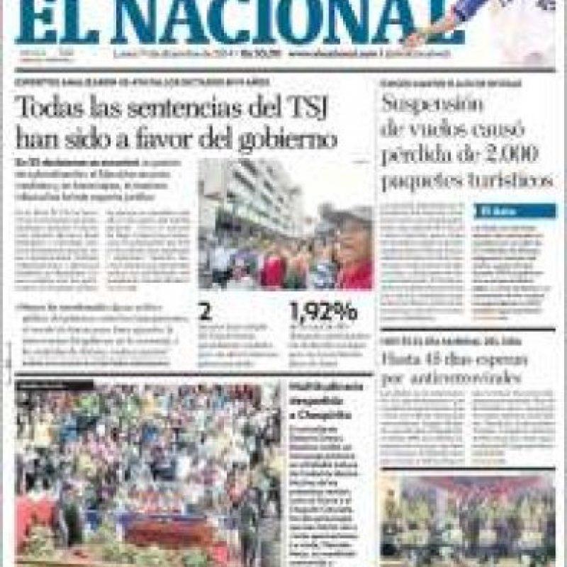 Venezuela, El Nacional Foto:El Nacional