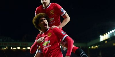 Marouane Fellaini abrió el camino de la victoria para el United. Foto:AFP