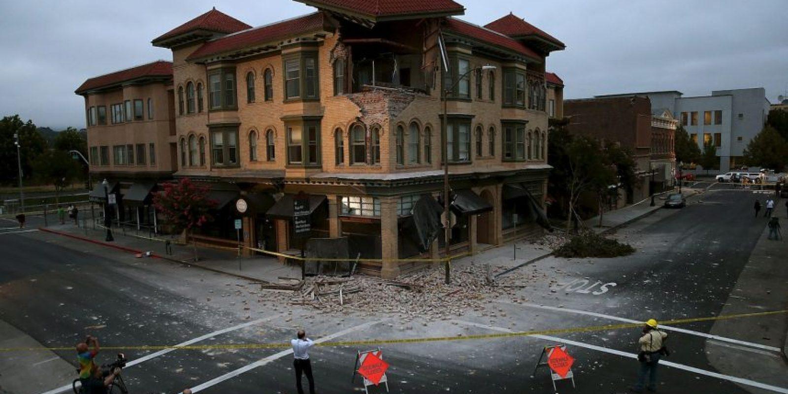 Sismo en Napa, California. Se reportan más de 20 mil casas sin electricidad. Foto:Getty Images