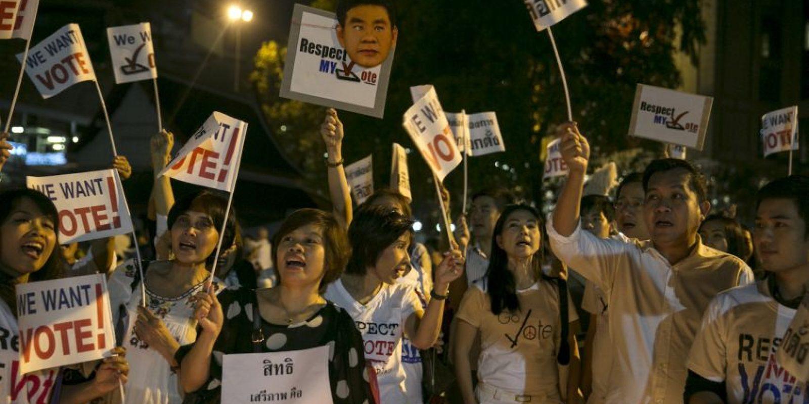 Elecciones presidenciales en Costa Rica, El Salvador y Tailanda. Estas últimas fueron boicoteadas. Foto:Getty Images