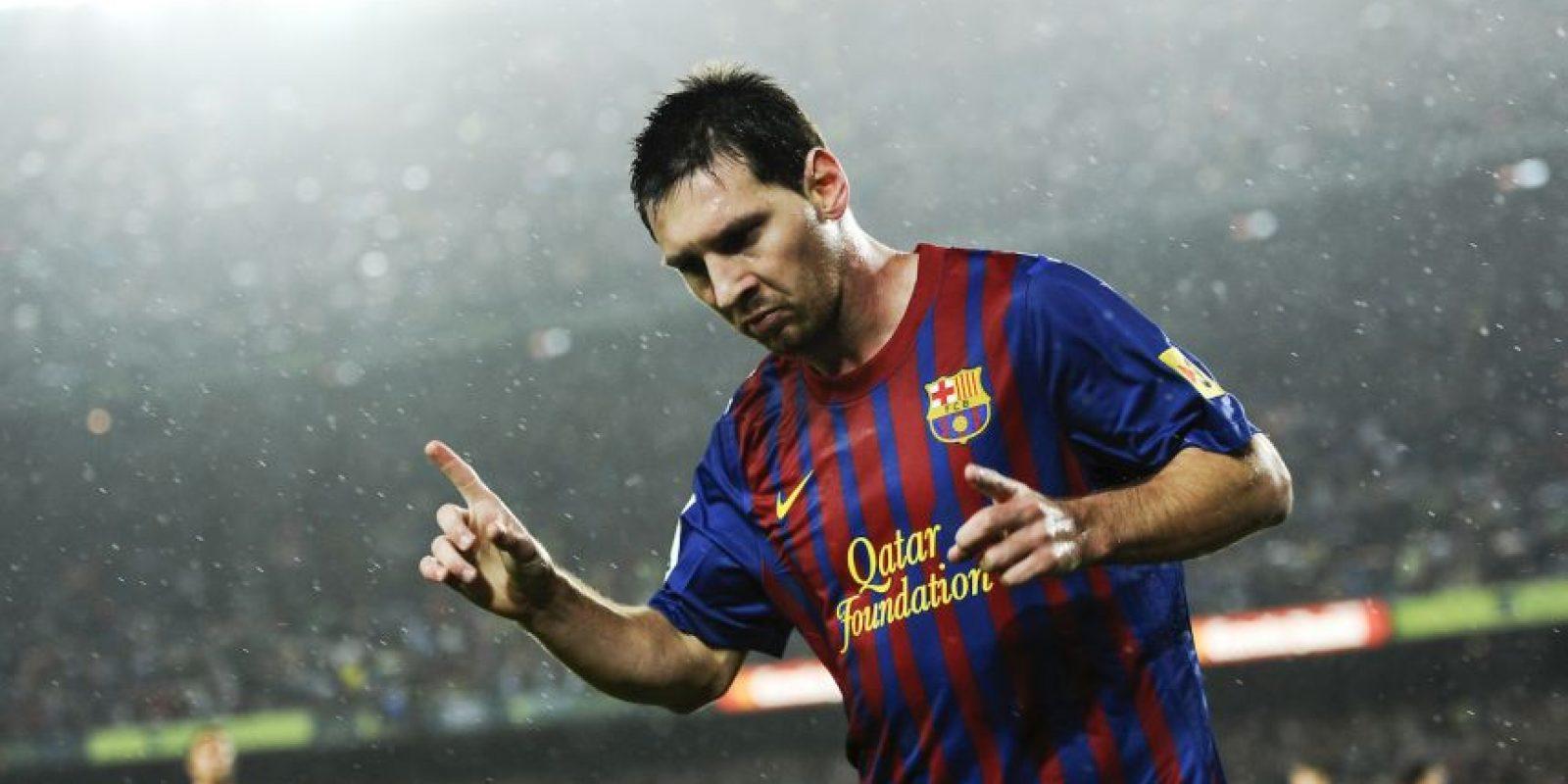 Messi celebra una anotación en 2011 Foto:Getty