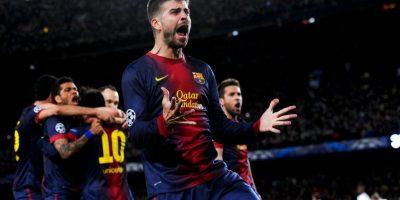 Piqué grita un gol en 2013 Foto:Getty