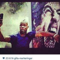 El polémico selfie que publicó Balotelli en Instagram. Foto:Twitter / instagram.com/mb459