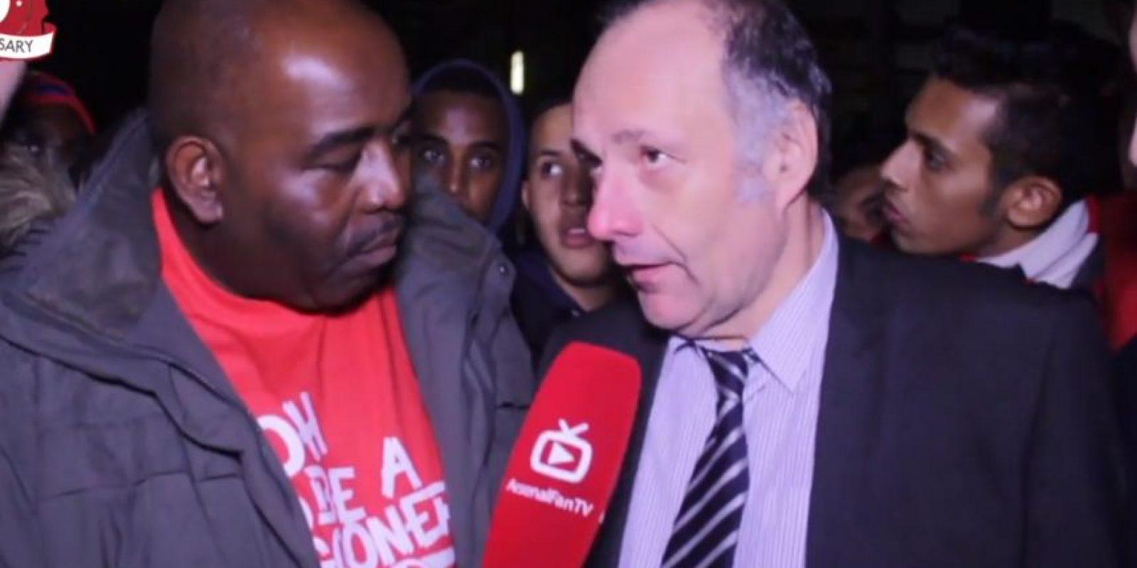 Un hincha del conjunto inglés elogió al delantero chileno Foto:Youtube: ArsenalFanTV