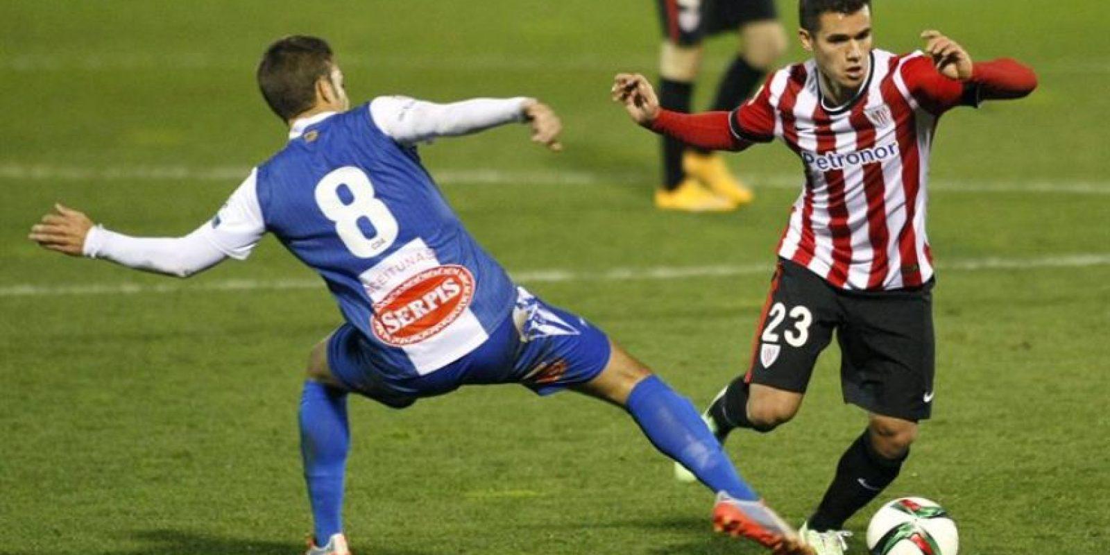 El Alcoyano le complicó las cosas al Athletic de Bilbao contra el que empató 1-1. Foto:EFE