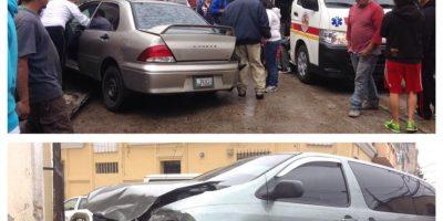 En la 1a. avenida A y 16 calle zona 1 ha ocurrido un accidente. Foto:CVB