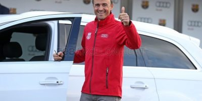 El entrenador eligió un Audi Q7 Foto:fcbarcelona.es
