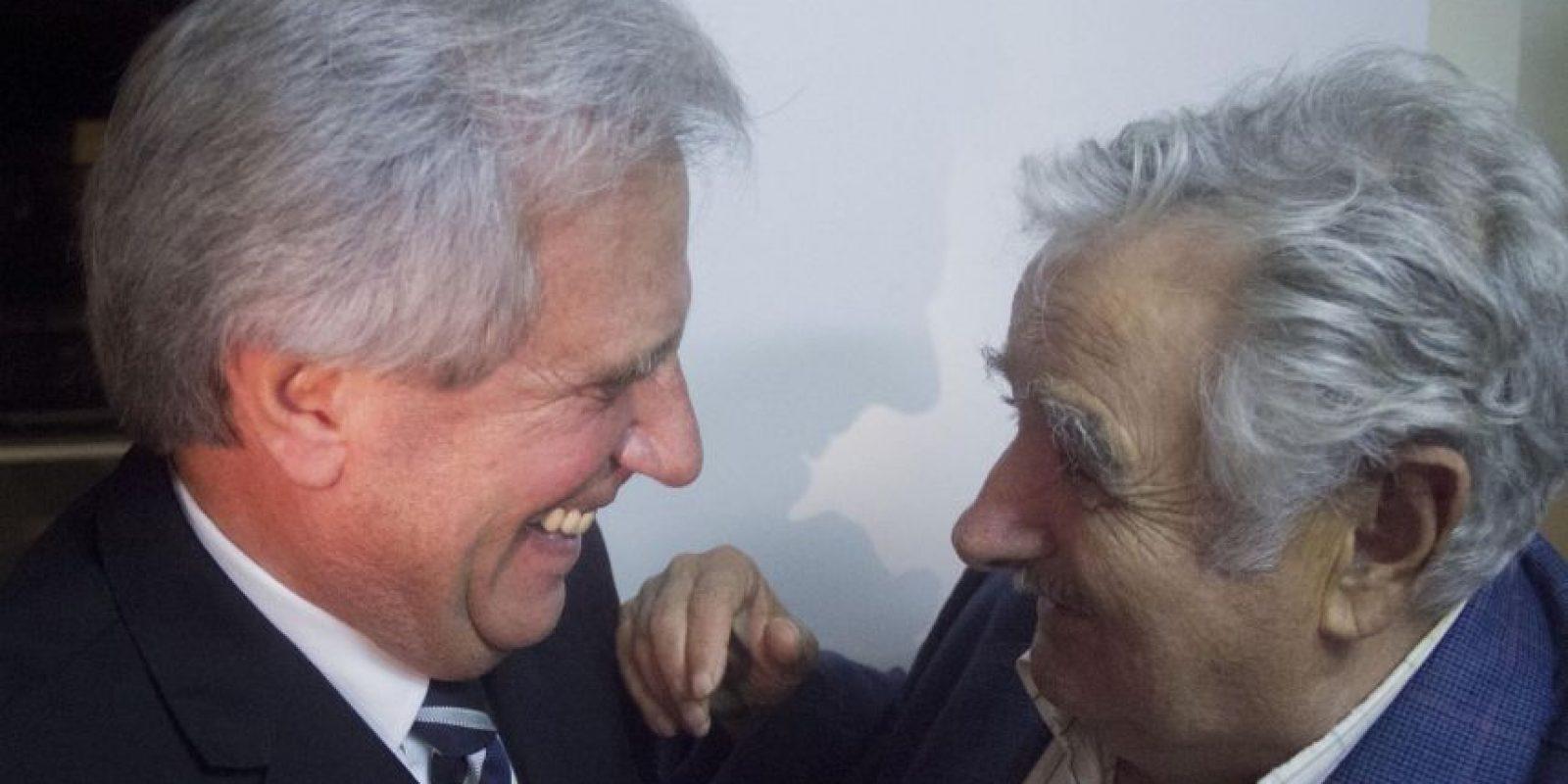 Aquí con el Presidente José Mujica. Foto:AP
