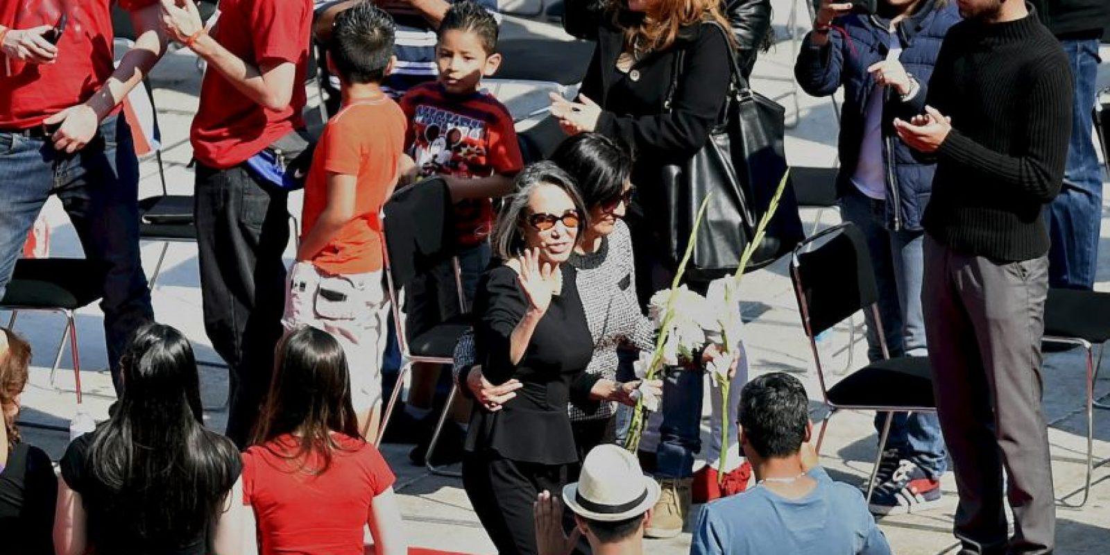 La actriz despidió a su marido Foto:AFP