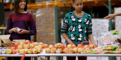 Su hermana menor es Sasha Obama, de 13 años. Foto:Getty