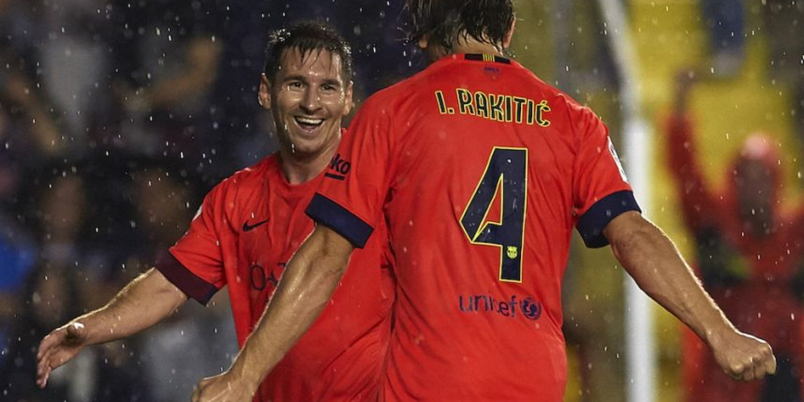 Leo e Ivan Rakitić. Foto:Getty Images