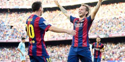 Lionel e Ivan Rakitić. Foto:Getty Images