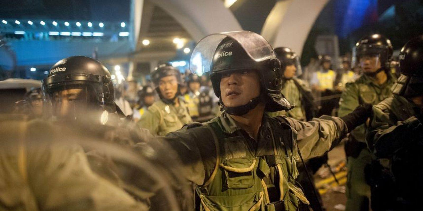 Hong Kong, durante las protestas del #OccupyCentral Foto:Getty Images