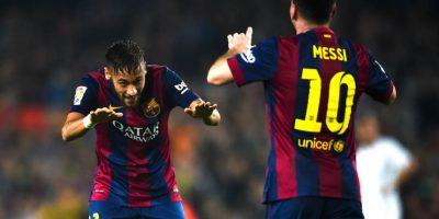 Neymar y Messi. Foto:Getty Images