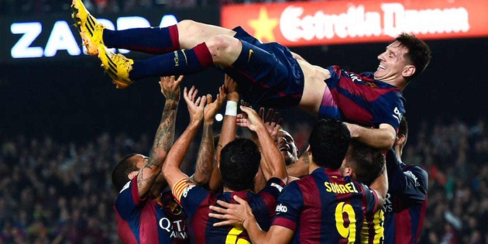 Leo con sus amigos. Foto:Getty Images