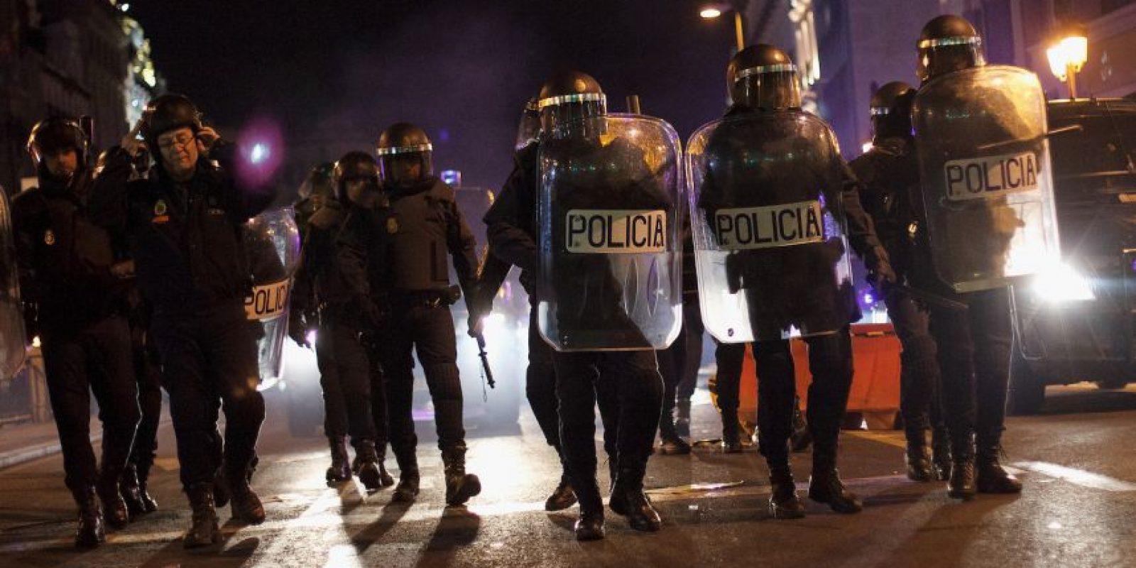 Durante una manifestación estudiantil en Madrid Foto:Getty Images