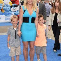 Britney Spears y sus hijos Sean Preston y Jayden James. Foto:Getty Images