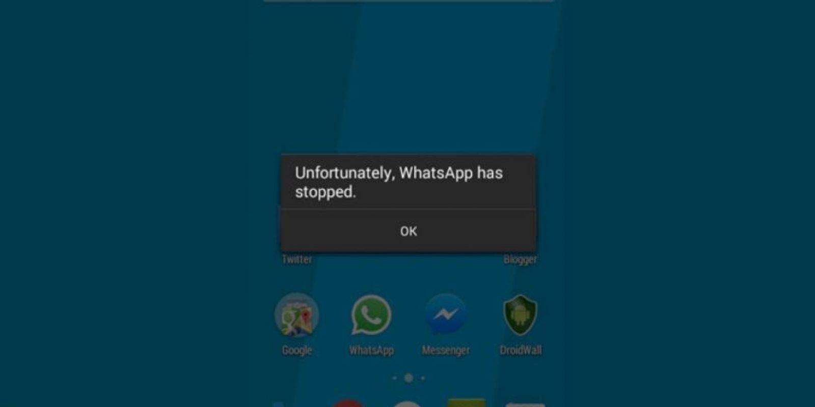 El mensaje de error al querer entrar a WhatsApp. Foto:The Hacker News