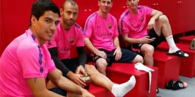 Luis Suárez, Javier Mascherano, Leo Messi y Jérémy Mathieu. Foto:instagram.com/leomessi
