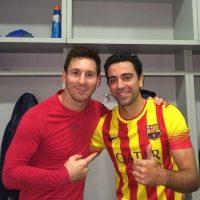 Lionel Messi y Xavi Hernández. Foto:instagram.com/leomessi