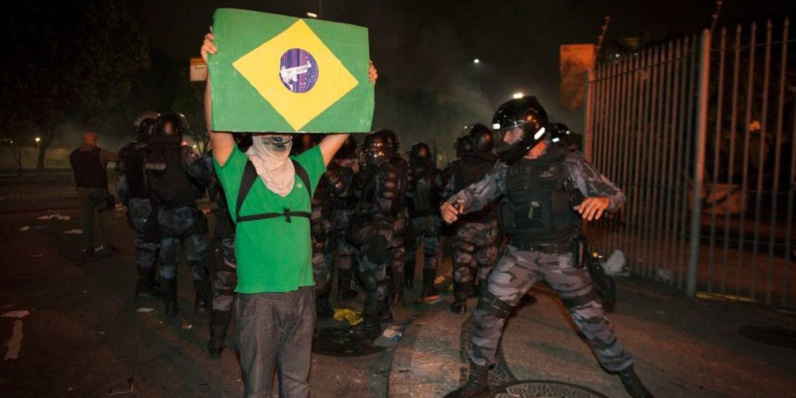 Brasil: Durante las protestas por la Copa del Mundo Brasil 2014 Foto:Getty Images