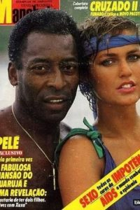 Pelé y Xuxa. Foto:Twitter
