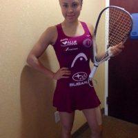 La raquetbolista mexicana tiene 25 años de edad. Foto:twitter.com/paolongoria