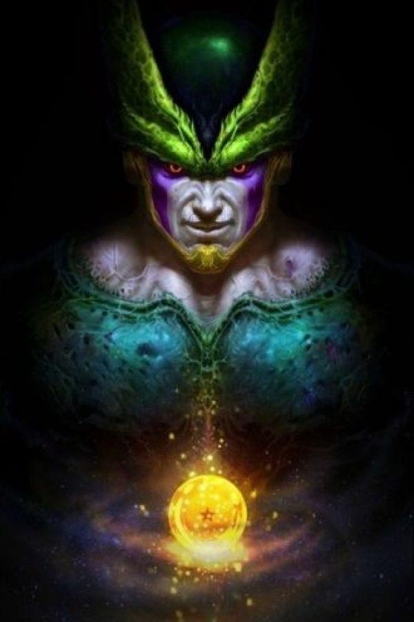 Cell fue creador a partir de células de distintos seres como los androides del Doctor Gero, además de las de Gokú, Piccolo, Freezer y con la habilidad de realizar el Kamehameha. Foto:Angus Yi
