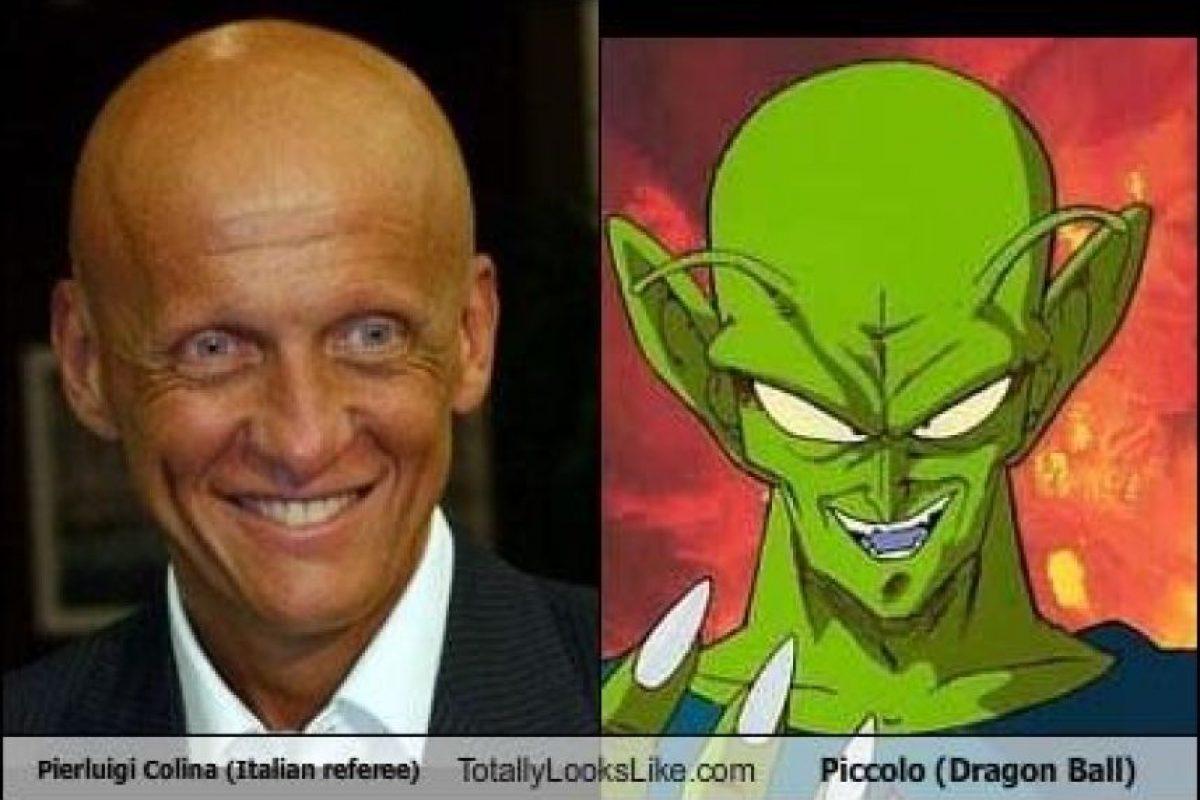 El italiano Pierluigi Collina, ex árbitro de fútbol, es comparado con Piccolo Foto:Totally Looks Like – Cheezburger