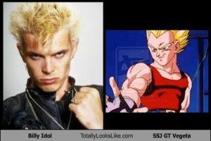 El cantante Billy Idol también tiene parecido con Vegeta convertido a Super Saiyajín Foto:Totally Looks Like – Cheezburger