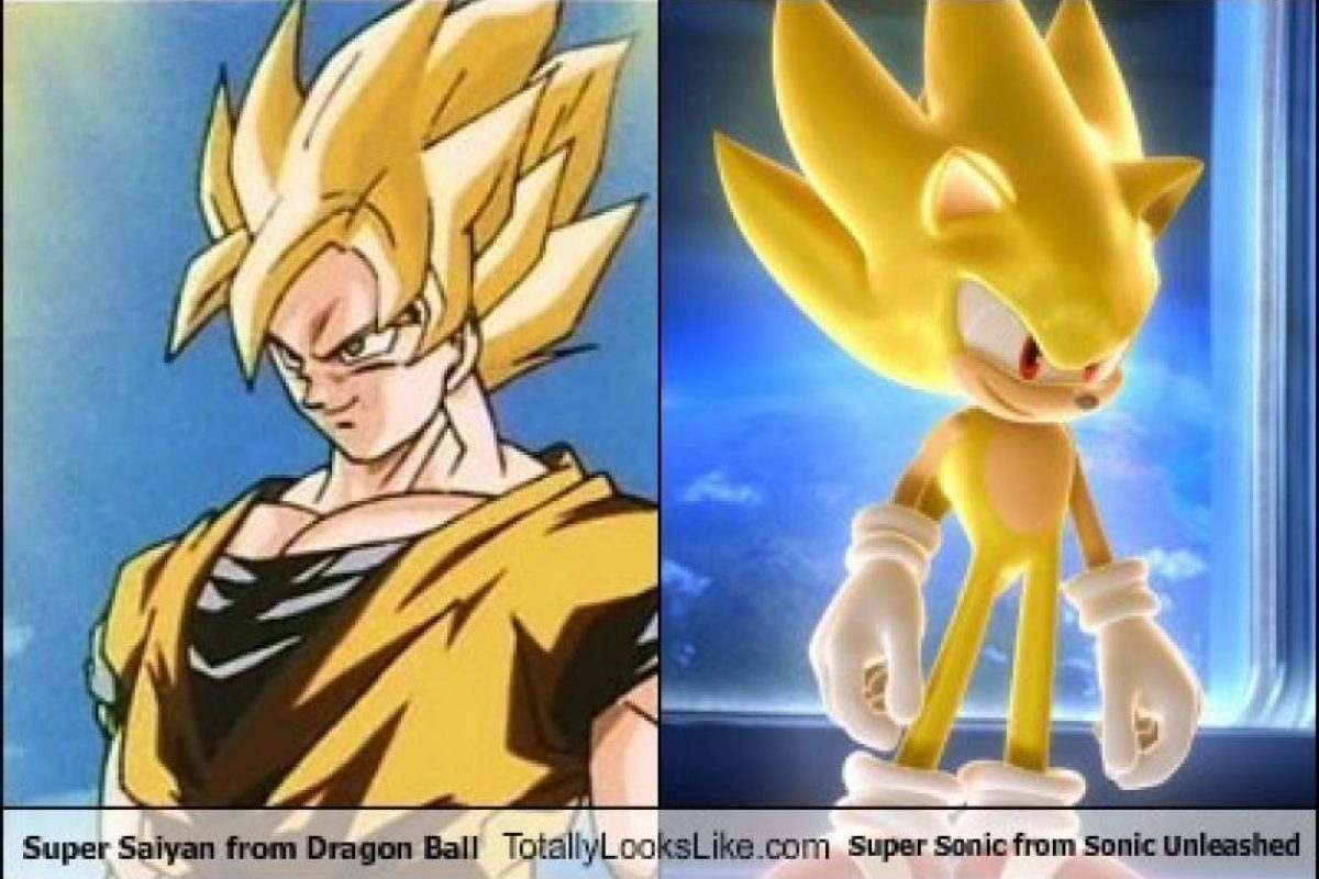 "Gokú Super Saiyajin es parecido a Super Sonic de ""Sonic Unleashed"" Foto:Totally Looks Like – Cheezburger"