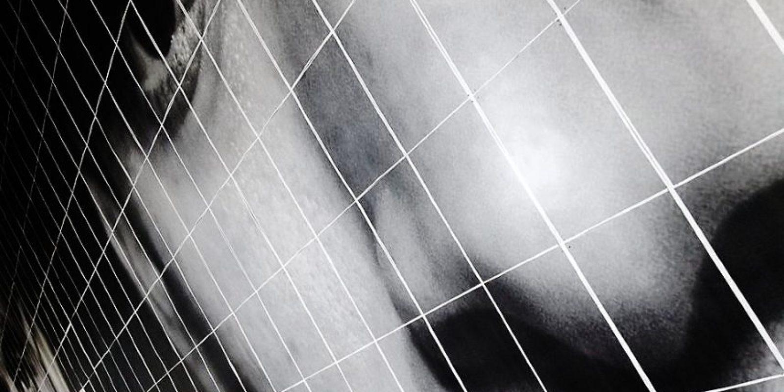 La intervención se muestra en la galería de Miami Foto:Cortesía Eny Roland Hernández Javier