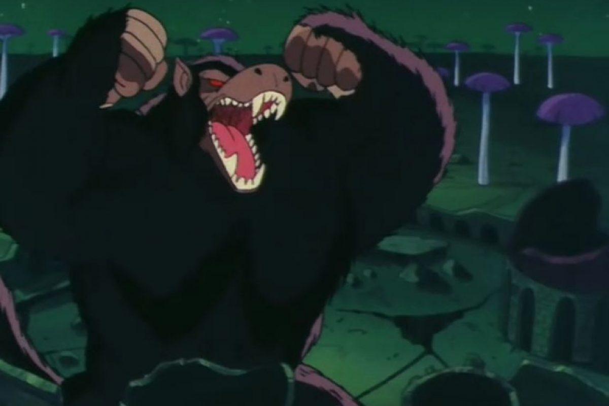 Ozaru: Goku se convertía en un mono gigante cuando tenía su cola y miraba la luna llena Foto:Wikipedia