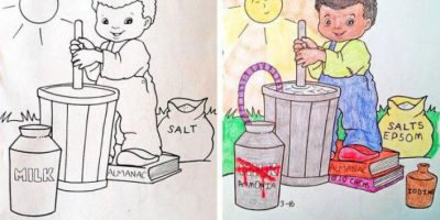 FOTOS. 8 dibujos infantiles transformados en escenas de terror